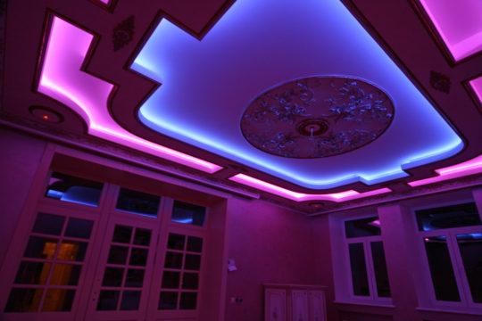Как сделать светящийся натяжной потолок своими руками