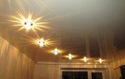 Организуем освещение натяжных потолков