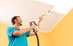 Как выполняется побелка потолка водоэмульсионной краской