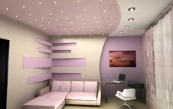 Комната с натяжным потолком