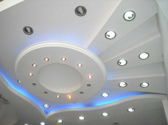 Матовый потолок из гипсокартона