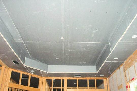 Отделка потолка из гипсокартона