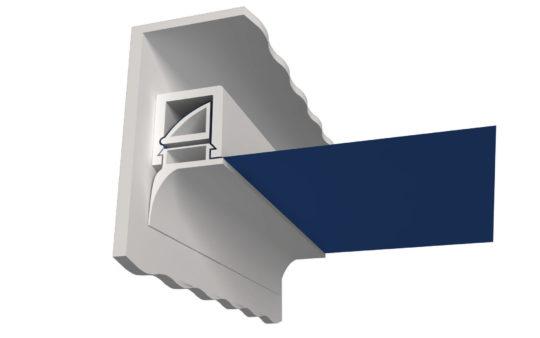 Штапик для установки натяжного потолка