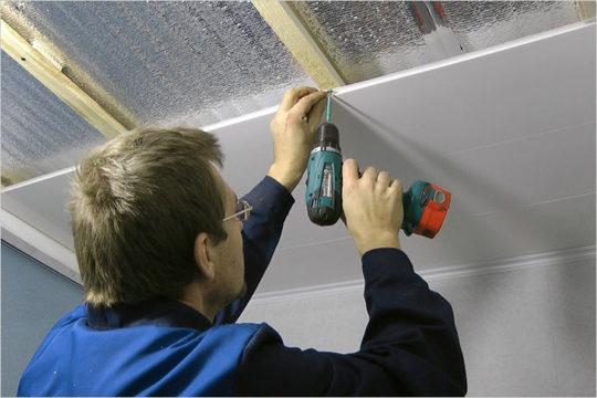 Внутреннее утепление потолка