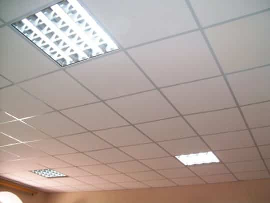 Подвесной плиточный потолок