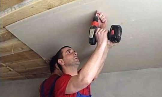 Крепление ГКЛ к деревянному потолку