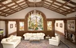 Варианты отделки потолка в частном доме
