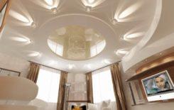 Зал с потолком из гипсокартона