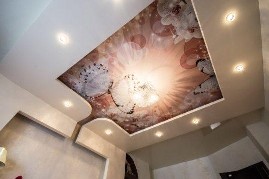 Сатиновый потолок с фотопечатью