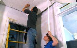 Оклейка потолка обоями под покраску