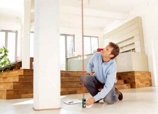 Измерение высоты потолка