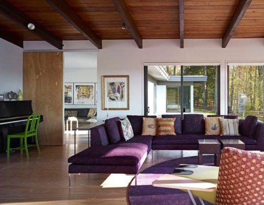 Потолок с деревянным перекрытием