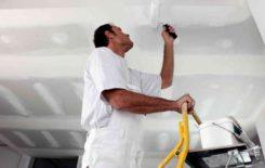 Как наносить грунтовку на потолок