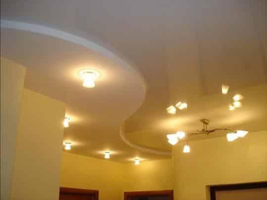 Висящий потолок из гипсокартона